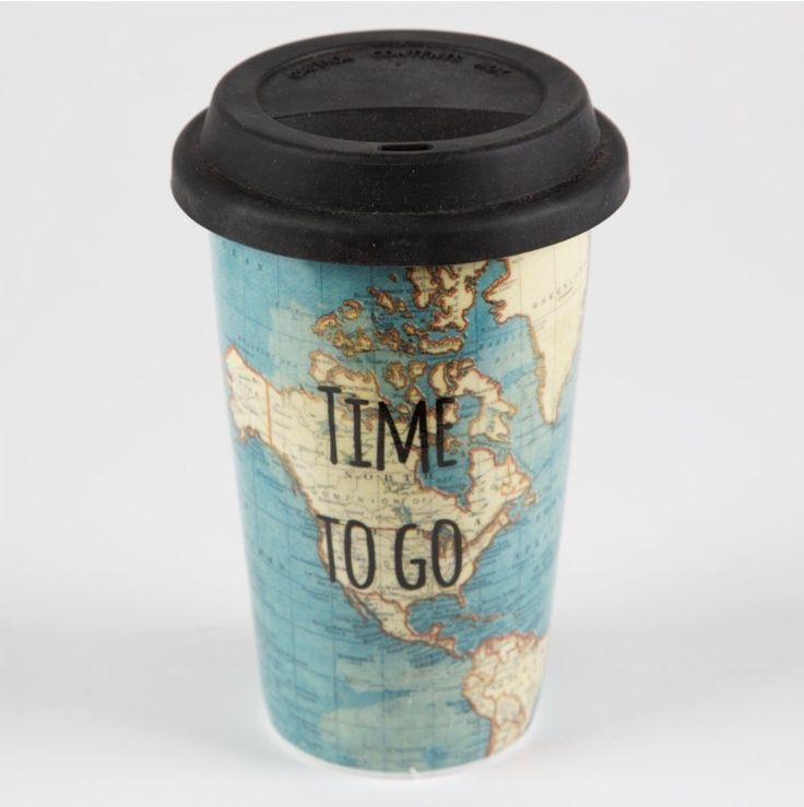 """► Tazza da caffè """"Coffee to go"""", Accessorio da portare sempre con sé al mattino prima di una giornata di lavoro."""