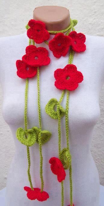 collar de flores