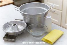Alluminio sempre pulito con l'uso di ingredienti naturali