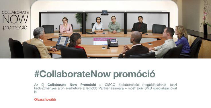 Az új #CollaborateNow Promóció a CISCO kollaborációs megoldásainkat teszi kedvezményes áron elérhetővé a legtöbb Partner számára – most akár SMB specializációval is!