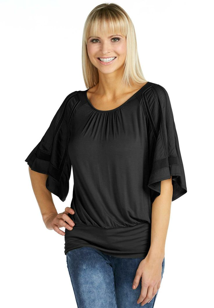Dolman Mesh Detail Top Tees & Knit Tops Cato Fashions