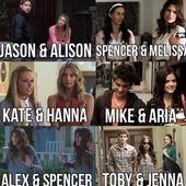 Aria and Mike and Spencer and Alex are the only ones that actually are 100% sibl...  Aria and Mike and Spencer and Alex are the only ones that actually are 100% siblings the rest share only one parent biologically or it's a step sibling    This image has get 55 repins.    Author: Minnie #Alex #Aria #Mike #sibl #Spencer