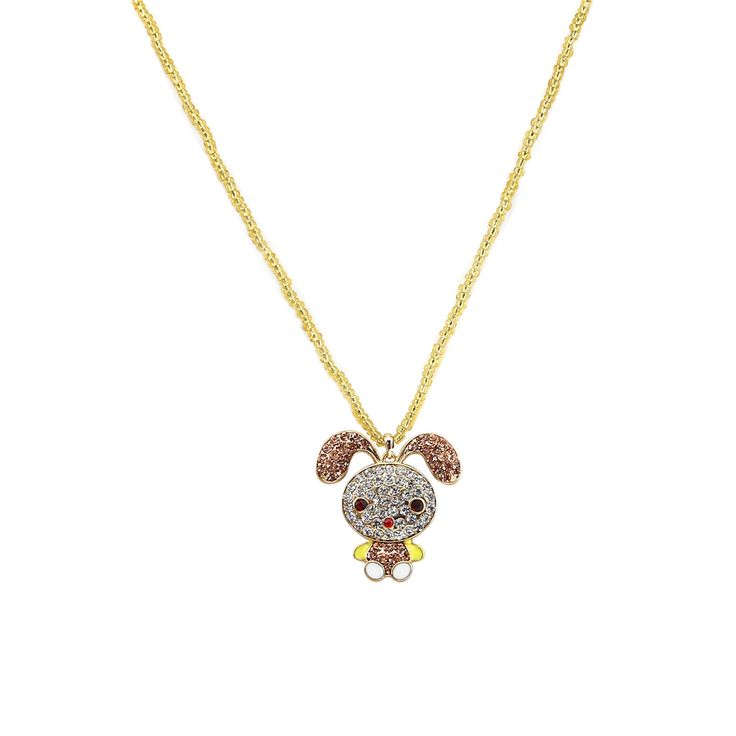 Cute Rhinestone Shining Rabbit Pendant Long Chain Necklace For Women Only at: $6.99 & FREE Shipping Worldwide