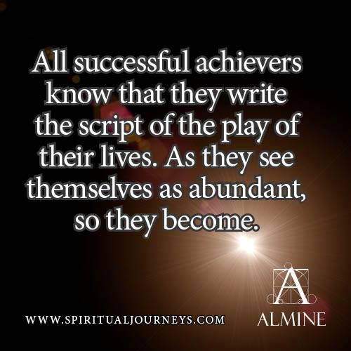 What successful achievers know...