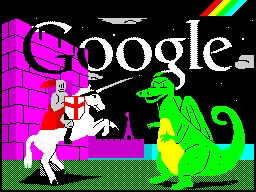 St George's Day and the 30th Anniversary of the ZX Spectrum. I doff my cap to the Google peeps.