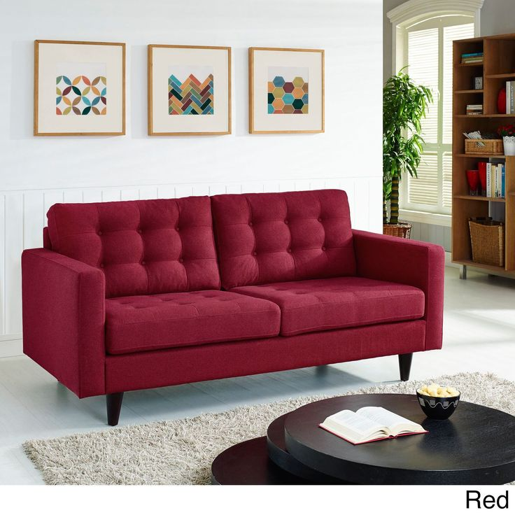 We love the deep red on this Empress Loveseat! but it from Barcelona Designs and get a George Nelson Clock with it absolutely free. No Hidden Charges!  https://www.barcelona-designs.com/products/eei-1546?utm_content=buffercb36e&utm_medium=social&utm_source=pinterest.com&utm_campaign=buffer #furnituresale  #interiordesign #midcentury #furnitureshop #officedecor