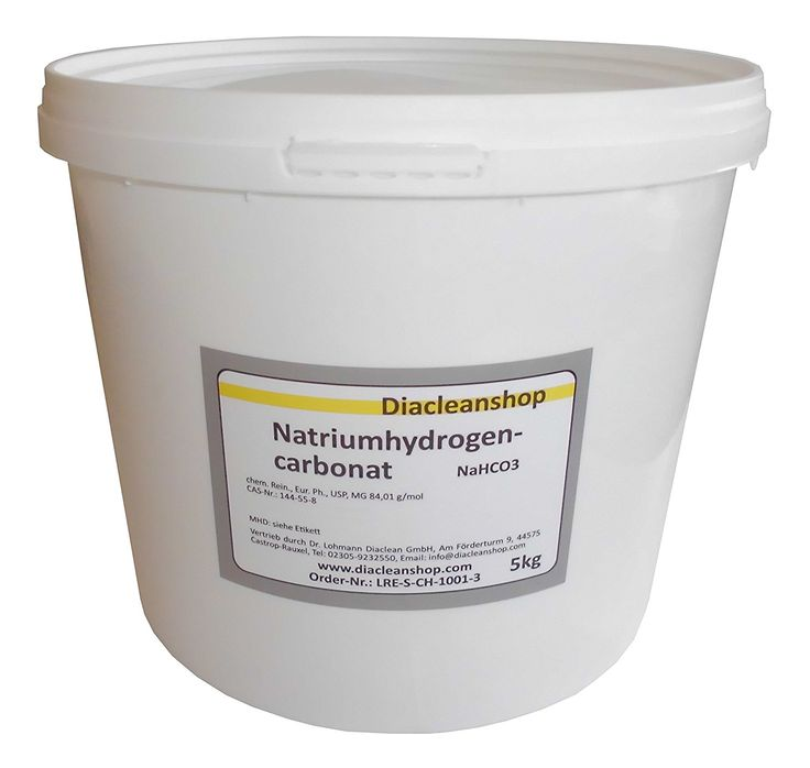 Natron 5kg Natriumhydrogencarbonat NaHCO3 Backsoda Natriumbicarbonat E500: Amazon.de: Drogerie & Körperpflege