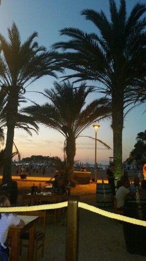 Beautiful evening at San Miguel Beach Club Ibiza