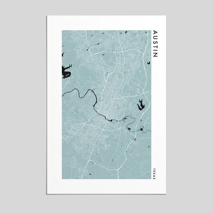 Chicago Map Grid%0A Austin  Texas   City Map Print  Style
