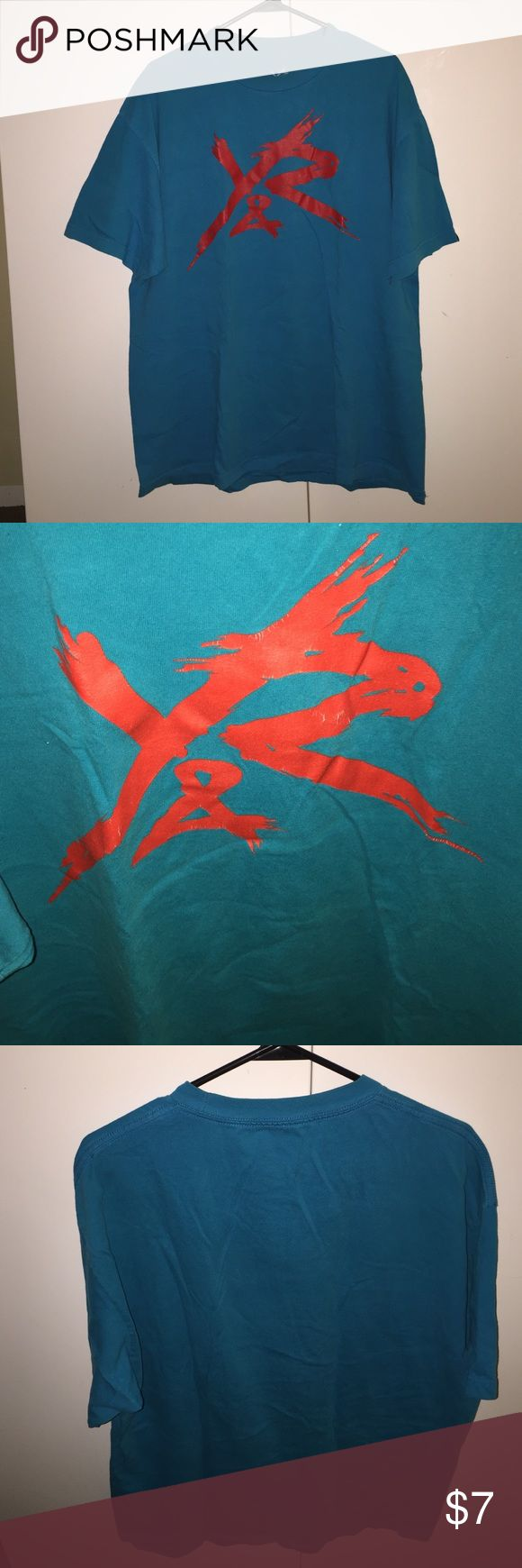 Young & Restless T-Shirt for Men The shirt is in ok condition. On the big red R there's a few stretched lines as shown on one of the pictures. Color is like acua blue. thank you. Young & Reckless Shirts Tees - Short Sleeve