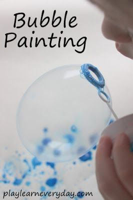 A fun and unique process art activity using bubbles to paint a picture.