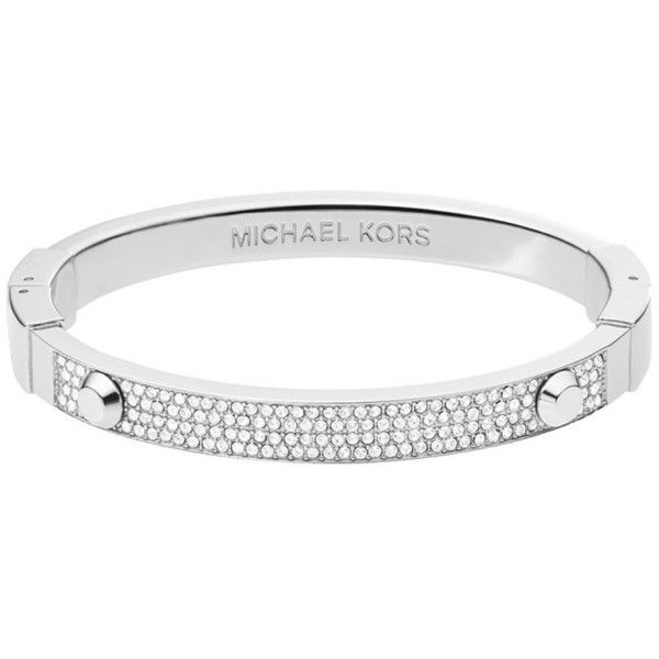 Michael Kors Jewellery, Astor Pavé Silver-Tone Bracelet Modeschmuck (205 CAD) ❤ liked on Polyvore featuring jewelry, bracelets, accessories, silver, michael kors, rhinestone bangle, michael kors jewelry, silvertone jewelry and sparkle jewelry