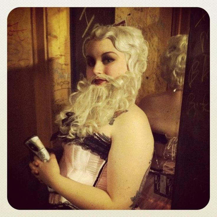 liquid latex cheese cloth and human hair extensions bearded lady costume - Halloween Costumes With Facial Hair