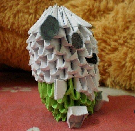 3D origami dog #papercraft #artwork