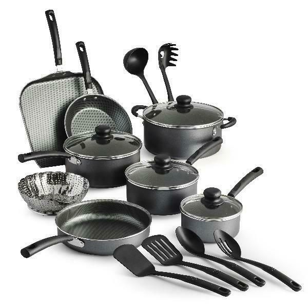 Tramontina Primaware 18 Piece Non Stick Cookware Set Dishwasher Safe Pans Tramontina Cookware Set Stainless Steel Cookware Set Nonstick Ceramic Cookware Set