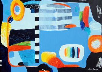 """""""In a city"""" by Pavla Hroudová, 50x70cm"""