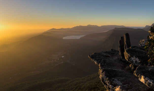 Halls Gap, Victoria. Located in the heart of the Grampians National Park in Victoria, Halls Gap is located perfectly to explore the wildlife, waterfalls and mountains of the Grampians.