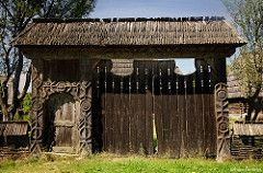 Carved wooden gate from Maramures region, Transylvania (Journey to Transylvania) Tags: carving wood maramures transylvania transilvania ardeal romania symbol rural countryside culture tradition gate ancient traditional peasant travel tourism photography