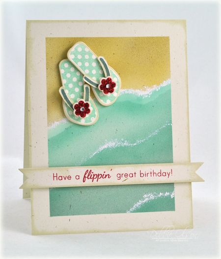How To: Waves - Love!: Cards Ideas, Summer Cards, Birthday Cards, Papertrey Ink, Stamps, Copic Markers, Beaches Cards, Distressed Ink, White Ink