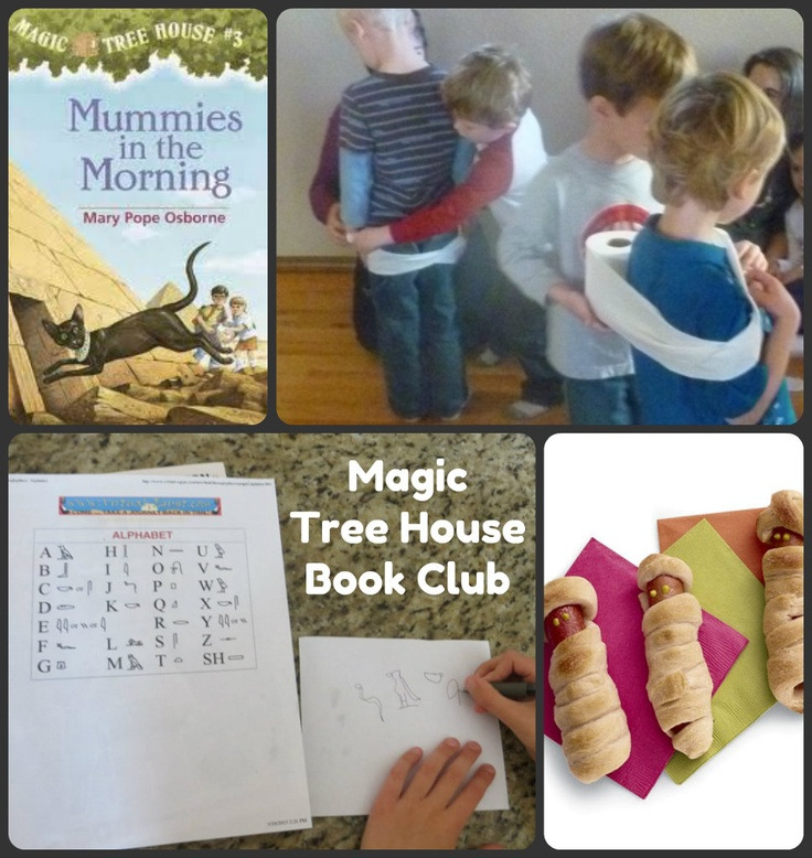 Brainstorm in Bloom: Mummies in the Morning (Magic Treehouse Bookclub), some cute ideas here