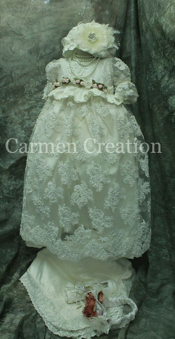 Victorian Christening Gown  Vintage Christening by CarmenCreation