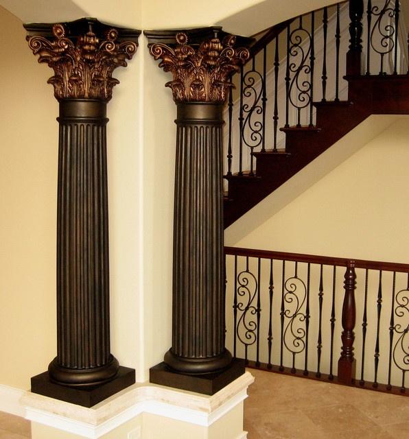 12 best copper led columns images on pinterest columns for Interior column designs