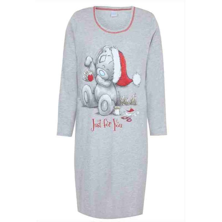 PRE-ORDER - Grey Marl Long Sleeve Tatty Bear Santa Print Nightdress $48.00 http://www.curvyclothing.com.au/index.php?route=product/product&path=95_105&product_id=8603&limit=100