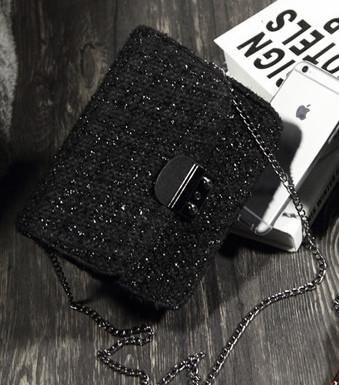 Stylish Vintage Brand Solid Cross Body Shoulder Black Bag - Accessories by Zeelous Street Style