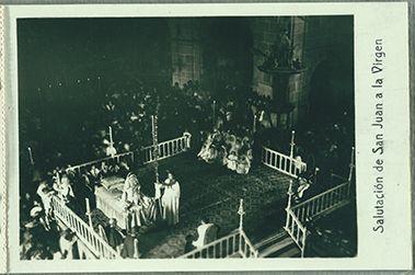 Saludo de San Juan a María #MisteridElx Foto: Pedro Ibarra (1901)