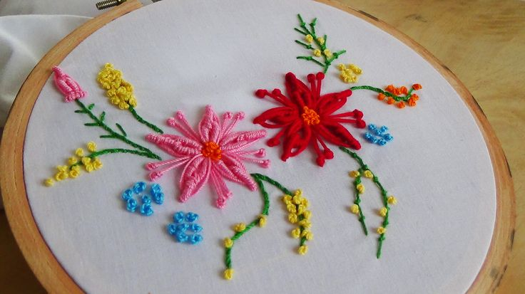 Hand Embroidery: Bullion flower stitch