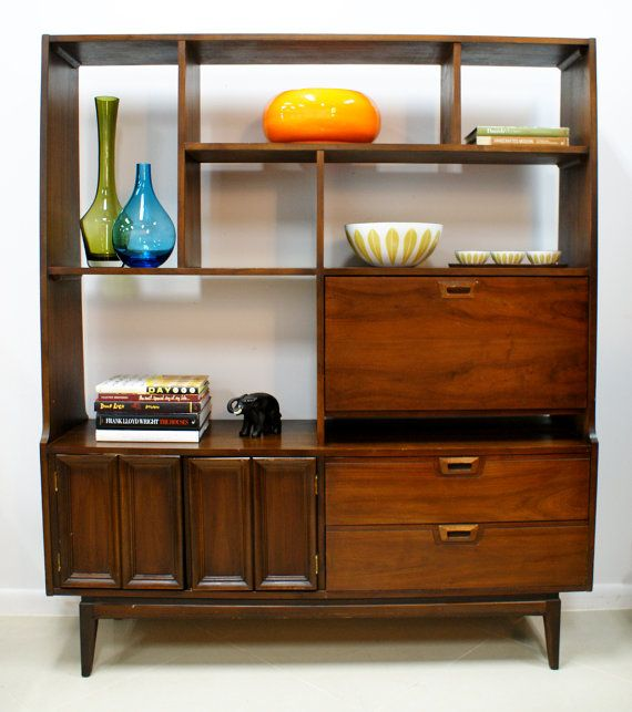 Vintage Mid Century Modern Wall Unit Room By Themodernhistoric 600 00