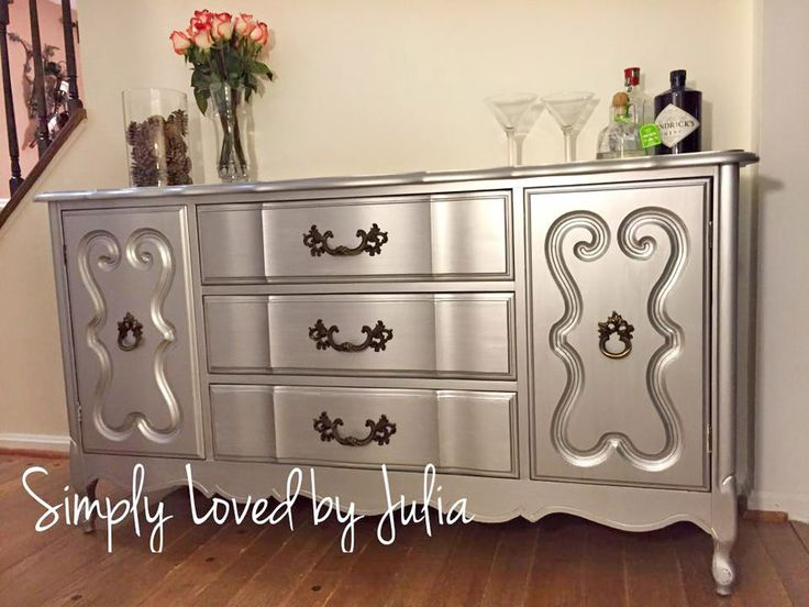 274 Best Images About Metallic Painted Furniture On