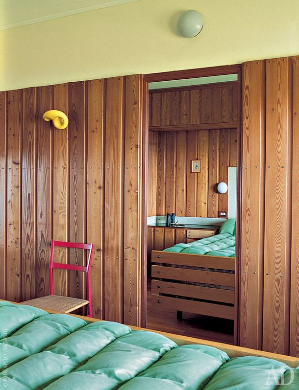 """В доме три """"главные спальни"""", эта когда-то принадлежала Луиджи Каттанео."""