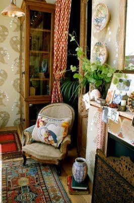 PrintsBloomsbury Life, Charleston House, Charleston Bloomsbury, Living Room, Pattern Mixed, Vintage Room, Windows Display, House Living, Charleston Farmhouse