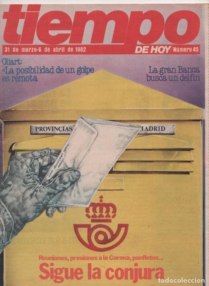 REVISTA TIEMPO Nº 45 23-F CONSEJO DE GUERRA, SIGUE LA CONJURA ORÍGENES REVISTA TIEMPO COMO SEPARATA