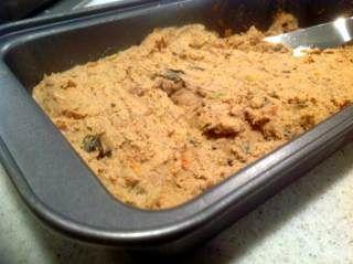 Сытный и вкусный летний паштет : печень с баклажанами
