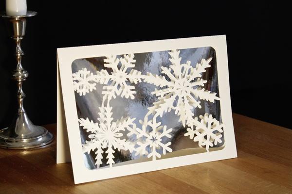 Scherenschnitt-Greeting card 'Ice crystals' by faltmanufaktur