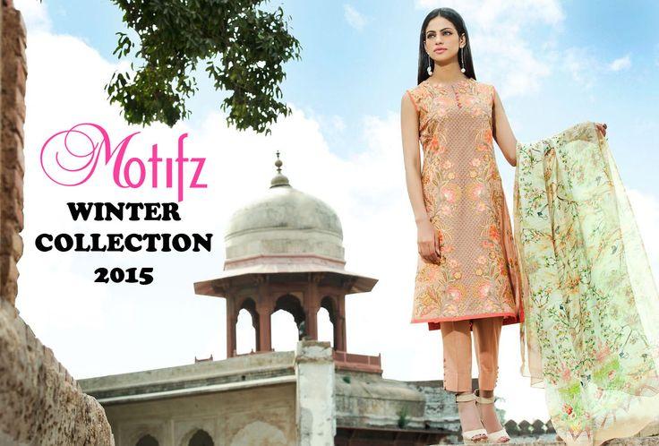 Handtassen Crinkles Winter 2015 : Best motifz pakistan crinkle chiffon party wear dresses