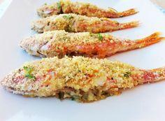 Raffinatezza e gusto in un piatto di mare! Le triglie gratinate al forno sono di una succulenza unica!
