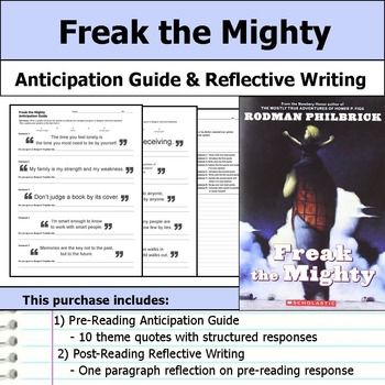 the mighty essay freak the mighty essay