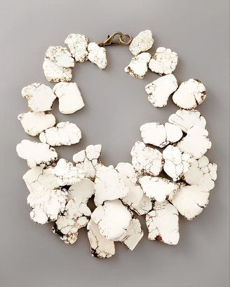 White Turquoise Necklace//