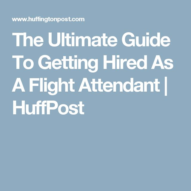 how to become a flight attendent