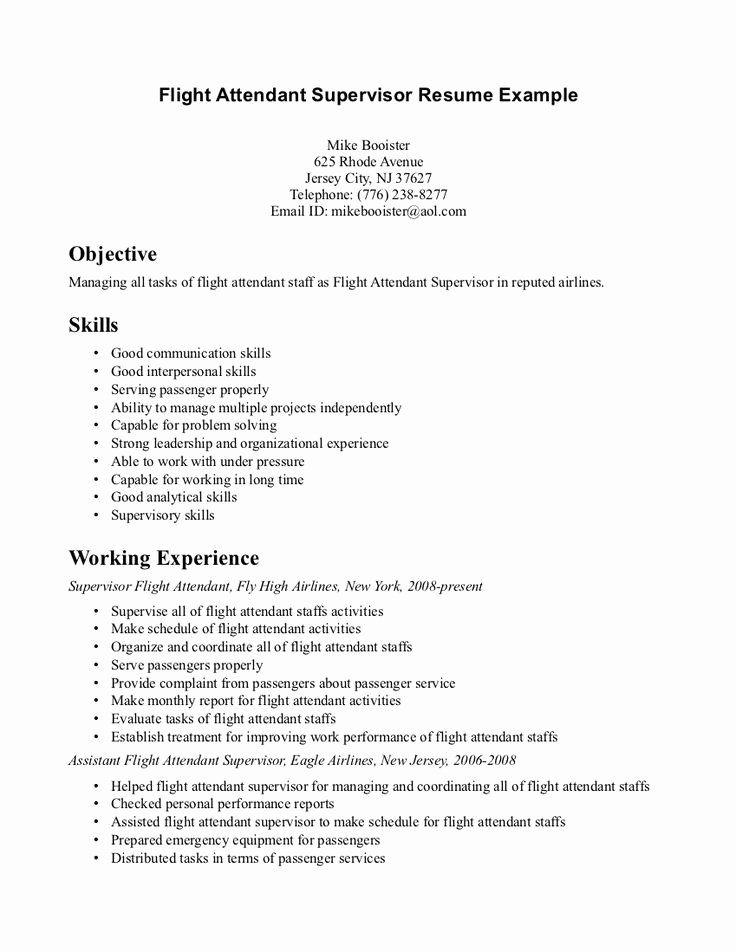 20 Flight attendant Resume Objective in 2020 (With images