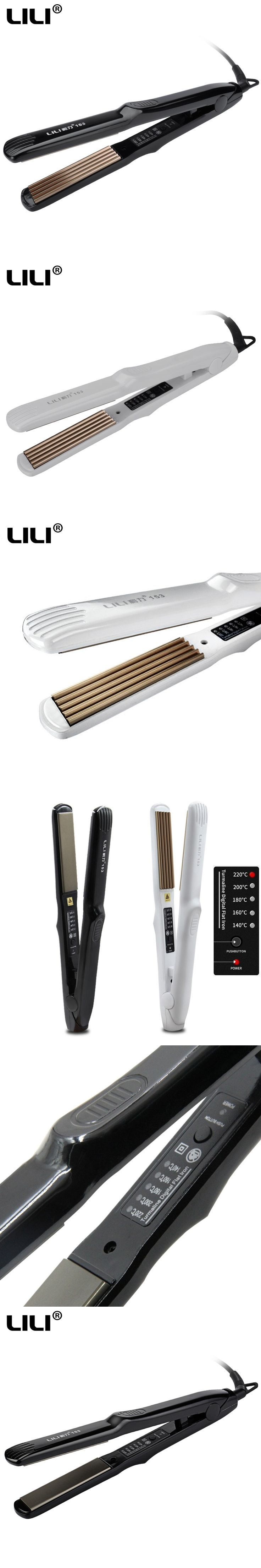 Ceramic Hair Straightener flat iron professional Electric Hair Straightening Irons 5 gears Temp hair Curling iron Styling Tool