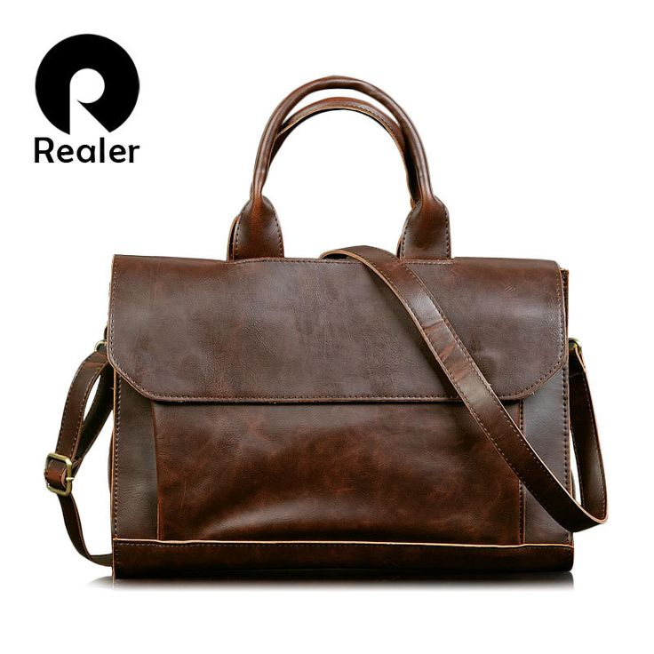 New leather vintage handbag men messenger bags Business briefcase for men High Quality Computer Laptop Handbag Men's Travel Bags