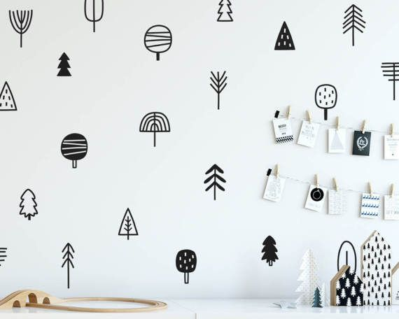 Adorable Tree Doodle Wall Decals! :)