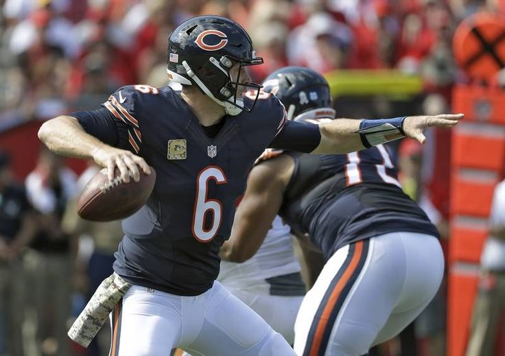 Bears. vs. Buccaneers:  36-10, Buccaneers - November 13, 2016:    Chicago Bears quarterback Jay Cutler (6) throws a pass against the Tampa Bay Buccaneers during the first quarter of an NFL football game Sunday, Nov. 13, 2016, in Tampa, Fla.