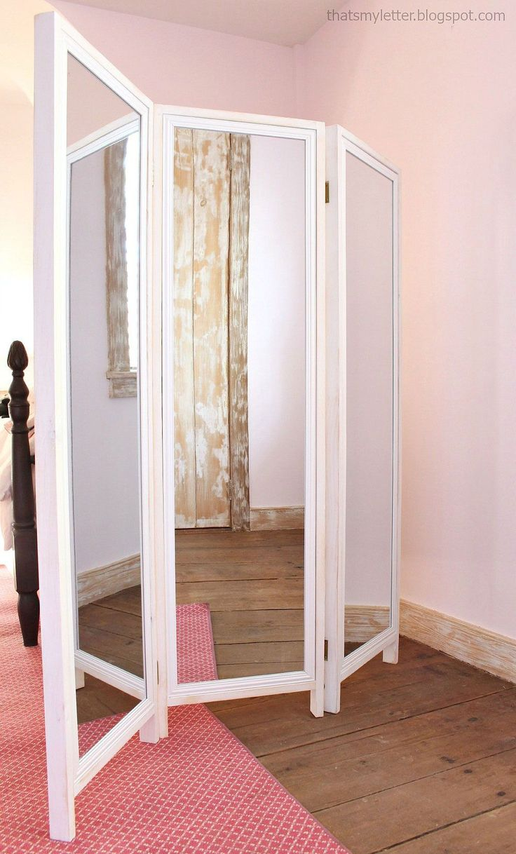 Build a HOW TO: Build a Mirrored Changing Screen with Pin Boards on Back | Free and Easy DIY Project and Furniture Plans