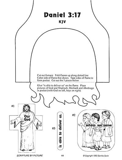 Scripture Meditations Bible craft fiery furnace