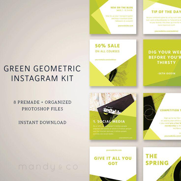 Instagram templates, Instagram branding, Instagram post, social media kit, marketing kit, marketing package by MandyandCo on Etsy
